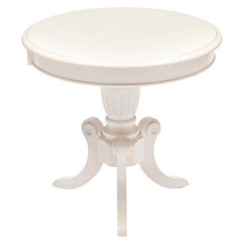 Стол кухонный TetChair Moon MO-ET, d: 60 см, ivory white