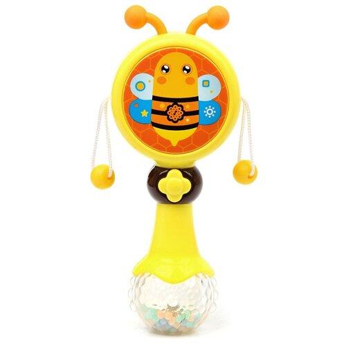 цена на Развивающая игрушка Ути-Пути Бубенцы. Пчелка желтый/оранжевый