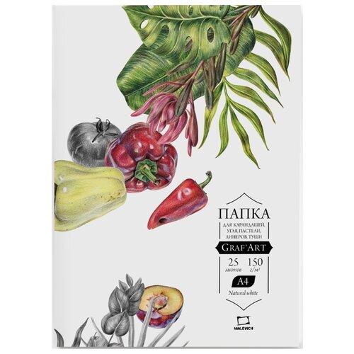 Купить Папка для сухих техник Малевичъ Graf'Art 29.7 х 21 см (A4), 150 г/м², 25 л., Альбомы для рисования