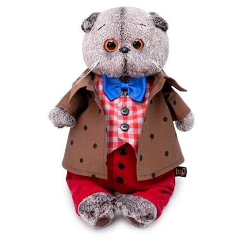 Купить Мягкая игрушка Basik&Co Кот Басик в костюме с бантом 22 см, Мягкие игрушки