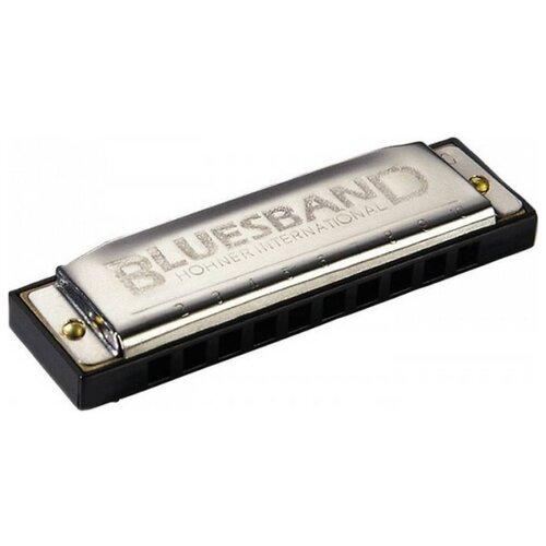 Губная гармошка Hohner Blues Band (M55910X) A, черный/серебристый