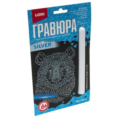 Купить Гравюра LORI Обаятельная панда (Гр-620) серебристая основа, Гравюры