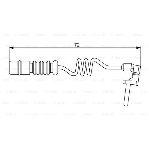 Датчик износа тормозных колодок задний Bosch 1987473057 для Mercedes-Benz G-class, Mercedes-Benz M-class