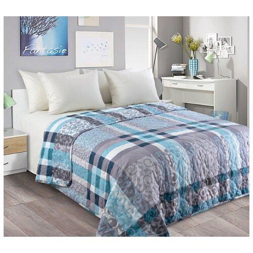 Фото - Покрывало стеганое Бруно, перкаль, 180x210 см, цвет: голубой покрывало текс дизайн шанталь 140х210 см голубой