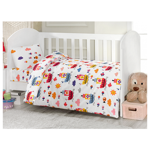 Купить Комплект из 4-ти предметов ТМ UPS PUPS серии Пароход (стандарт), Kidboo, Постельное белье и комплекты
