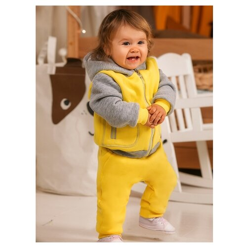Фото - Комплект одежды Лапушка размер 86, желтый комплект одежды клякса размер 86 желтый