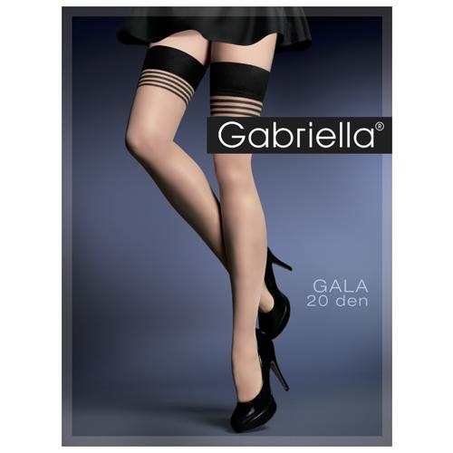 цена Чулки Gabriella Gala 20 den, размер 3/4, черный/бежевый онлайн в 2017 году