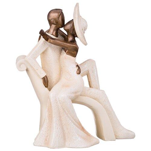 Статуэтка Lefard Влюбленные 162-433, 22 см бежевый/коричневый пиала lefard 12 5 см бежевый розовый с розами