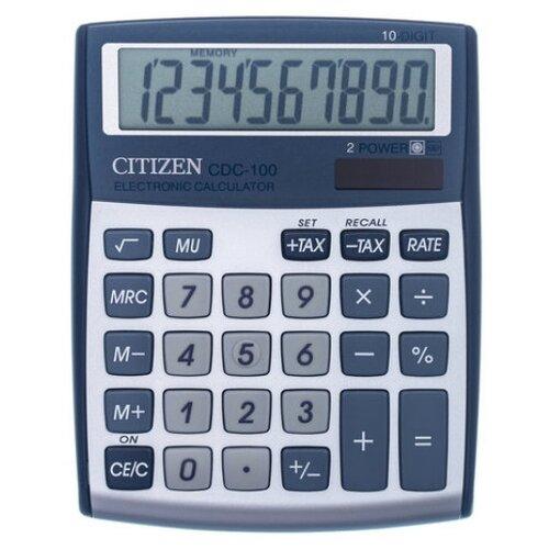 Калькулятор настольный CITIZEN CDC-100 серебристый