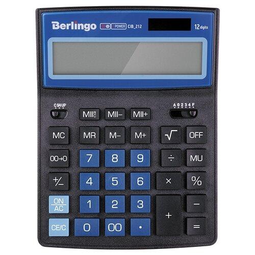 Калькулятор бухгалтерский Berlingo City Style CIB_212 черный/синий  - купить со скидкой