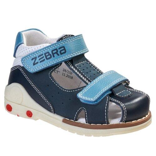 Фото - Сандалии Зебра размер 24, 5 синий сапоги для мальчика зебра цвет коричневый 11790 3 размер 22