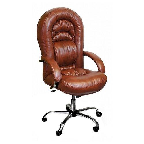 Компьютерное кресло Креслов Шарман хром офисное, обивка: искусственная кожа, цвет: Виски стул креслов самба кв 10 100000 0406