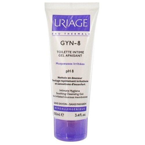 Uriage Гель для интимной гигиены Gyn-8 успокаивающий, 100 мл прурисед противозудный успокаивающий кремэмульсия 100 мл uriage pruriced