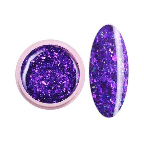 Краска ICE NOVA Glitter Gel 53 фиолетовый