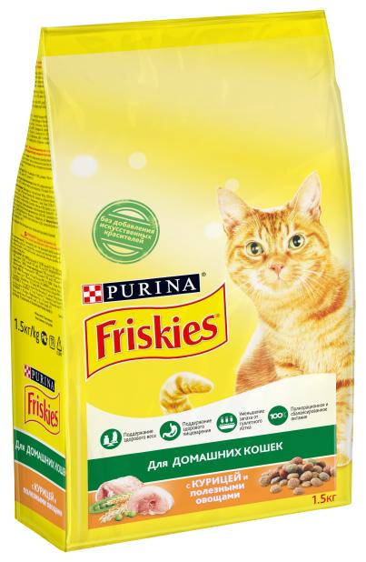 Корм для кошек Friskies с курицей — купить по выгодной цене на Яндекс.Маркете