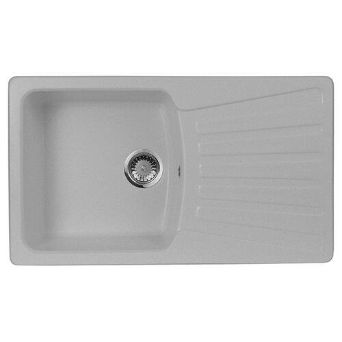 Фото - Врезная кухонная мойка 84 см А-Гранит M-12 серый врезная кухонная мойка 47 5 см а гранит m 05 красный марс