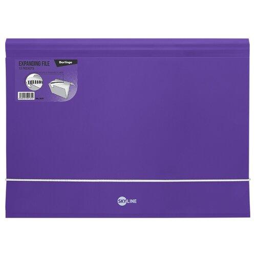 Купить Berlingo Папка на резинке Skyline А4, 13 отделений, пластик фиолетовый, Файлы и папки