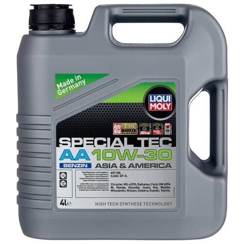 Синтетическое моторное масло LIQUI MOLY Special Tec AA Benzin 10W-30 4 л liqui moly speed tec benzin 0 25 л