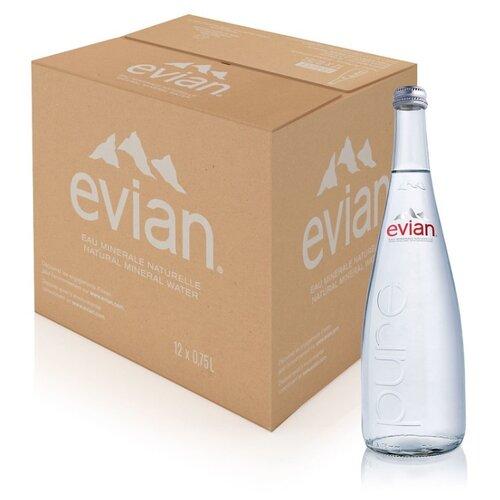 Вода минеральная Evian негазированная, стекло, 12 шт. по 0.75 лВода<br>