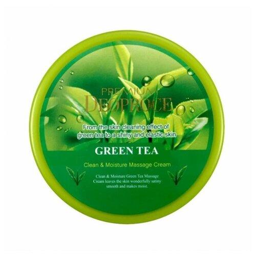 Купить Крем для тела Deoproce Premium Clean & Moisture Green Tea Massage Cream, банка, 300 г