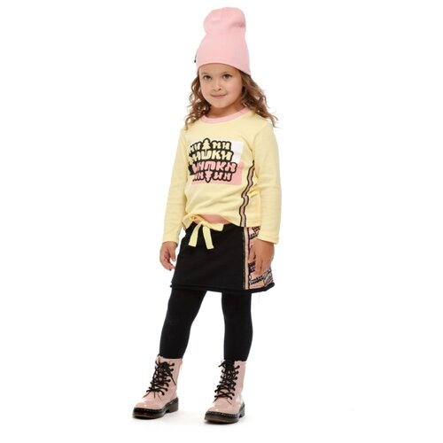 Фото - Лонгслив lucky child Ми-ми-мишки размер 28 (92-98), желтый пижама lucky child размер 28 92 98 полосатый