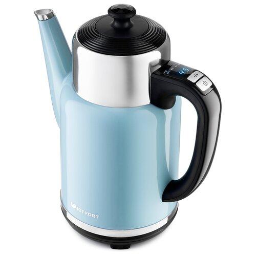 Чайник Kitfort КТ-668-5, голубой недорого