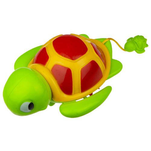 Игрушка для ванной 1 TOY Веселый заплыв. Черепашка (Т16830) зеленый/красный/желтый игрушка для ванной tomy веселый пароход e72453 разноцветный