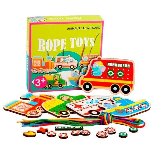 Шнуровка Наша игрушка Транспорт (800094) разноцветный игрушка