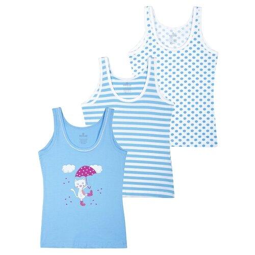 Купить Майка BAYKAR 3 шт., размер 146/152, белый/голубой, Белье и купальники