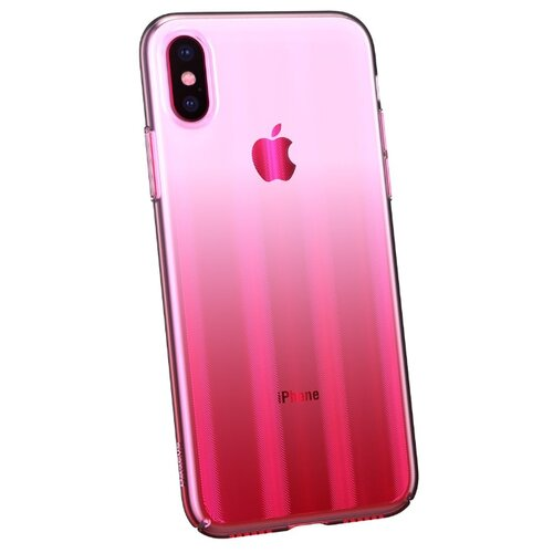 Чехол Baseus Aurora case для Apple iPhone X Transparent Pink