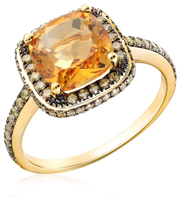 Бронницкий Ювелир Кольцо из желтого золота D0001795305