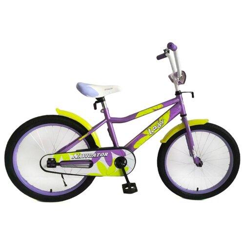 Детский велосипед Navigator Lady (ВН20220) фиолетовый 11 (требует финальной сборки) велосипед детский navigator вн20214 basic