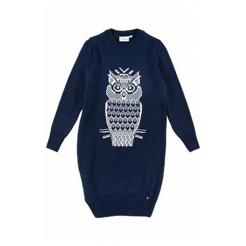 пальто женское finn flare цвет темно синий b18 11016 размер 2xl 52 Платье FiNN FLARE размер 8 (128), темно-синий