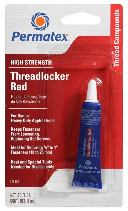 Фиксатор резьбовых соединений сильной фиксации неразъемный PERMATEX Threadlocker Red 09179/19961/27100/27140/27183