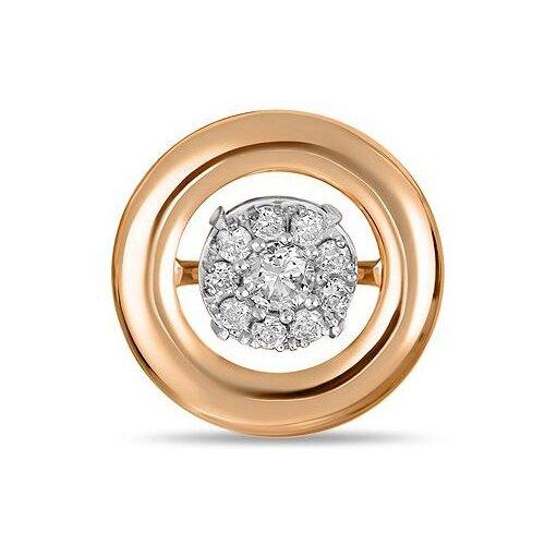 Фото - ЛУКАС Подвеска с 10 бриллиантами из красного золота P01-D-33647 лукас подвеска с 19 бриллиантами из красного золота p01 d 33651