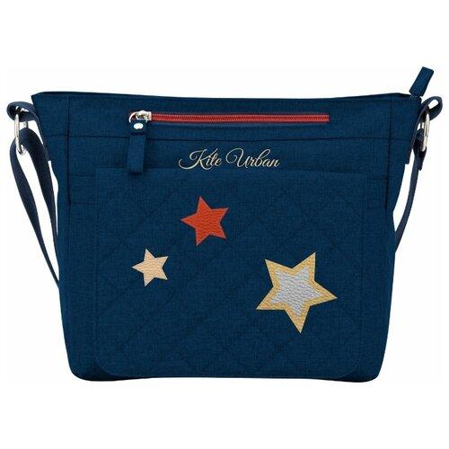 Сумка тоут Kite, текстиль, темно-синий сумка поясная kite время и стекло vis19 2562 текстиль