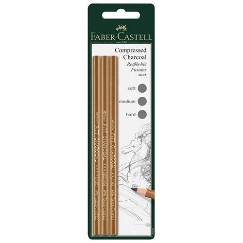 Faber-Castell Набор угольных карандашей Pitt 3 шт