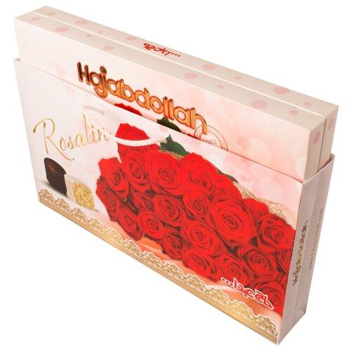 Набор конфет Hajabdollah Rosalin из пашмалы с молочным вкусом и вкусом ванили, кофе и имбиря в глазури, 300 г пашмала hajabdollah тиянь с шафраном и фисташками в шафрановой глазури 300 г