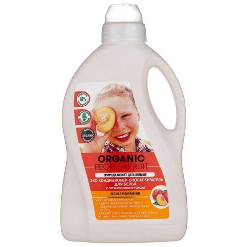Organic People Эко кондиционер-ополаскиватель для белья с органическим персиком, 1.5 л, флакон