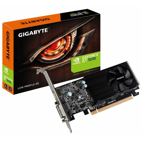 Видеокарта GIGABYTE GeForce GT 1030 1252MHz PCI-E 3.0 2048MB 6008MHz 64 bit DVI HDMI HDCP Low Profile Retail видеокарта gigabyte geforce gt 1030 gv n1030d5 2gl pci e 2048mb 64 bit retail