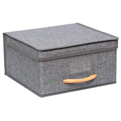 HAUSMANN Кофр для хранения HM-6A-101 30x30x16 см серый hausmann кофр для хранения hausmann 50x40x20 см