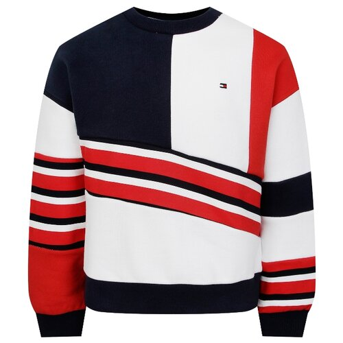 Свитшот TOMMY HILFIGER размер 140, белый/синий/красный