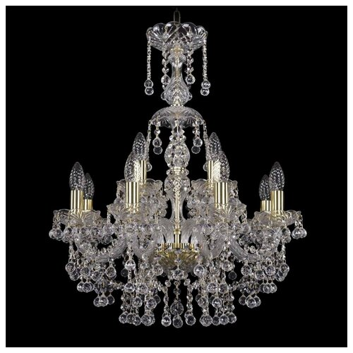 Фото - Люстра Bohemia Ivele Crystal 1409 1409/8/195/XL-68/G, E14, 320 Вт 80700