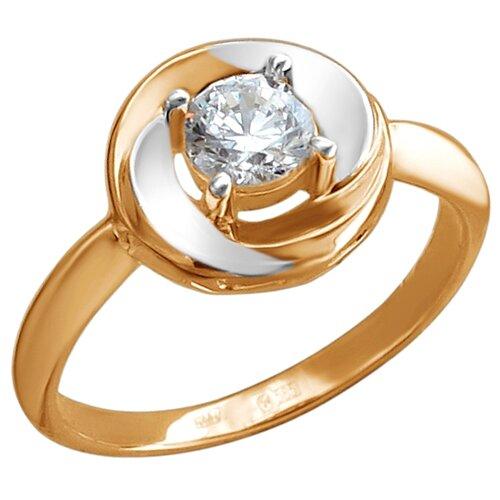 Эстет Кольцо с 1 фианитом из серебра с позолотой 01К1513031АР, размер 16 эстет кольцо с 1 фианитом из серебра 01к155750 размер 16 5