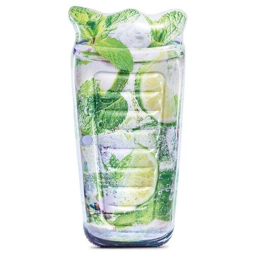 Матрас Intex Коктейль Sparkling Soda 91x178 см серый/зеленый