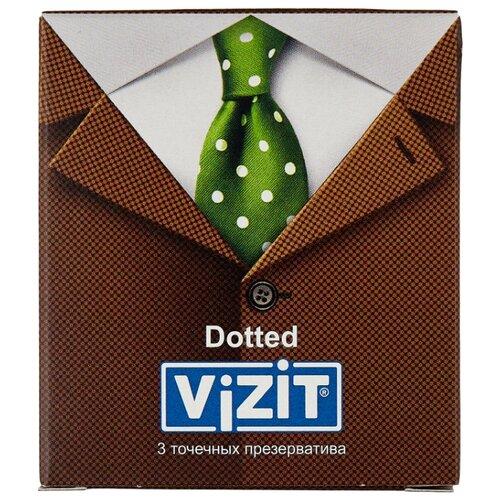 Презервативы Vizit Dotted (3 шт.) dotted self tie wide leg jumpsuit