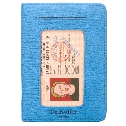 Обложка для автодокументов Dr.Koffer X268010-164-70, голубой