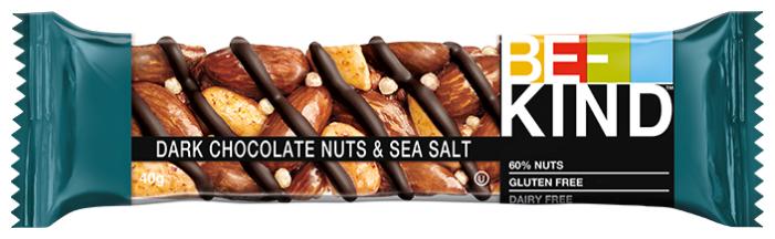 Ореховый батончик Be-Kind Dark Chocolate Nuts & Sea Salt 40 г — купить по выгодной цене на Яндекс.Маркете