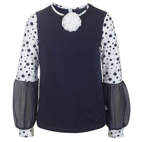 Блузка Nota Bene размер 140, темно-синий nota bene nota bene школьная блузка серая