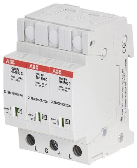 Устройство защиты от перенапряжения для систем энергоснабжения ABB 2CTB804153R2100